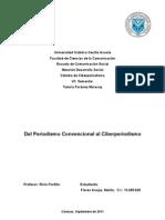 Del Periodismo Convencional Al Ciber Periodismo