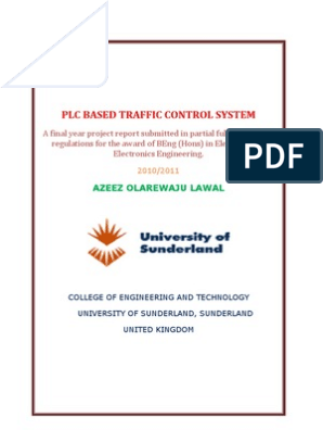 Plc Based Traffic Control System Report | Programmable Logic