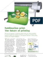 Sublimation Print the Future of Printing