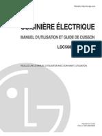 LG LG5683 Electric range
