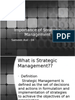 Importance of Strategic Management Sameen