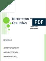 Nutricion y cirugias.