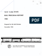New York State Rail Program Report 1985, Prepared by the Rail Division