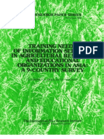 IRPS 98 Training Needs of Information Sevices in Agricultural Research and Educational Organizations in Asia