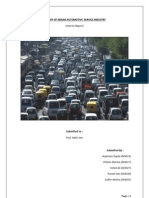 A Study of Indian Automotive Service Industry