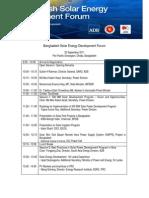 ADB Bangladesh Solar Energy Development Forum Agenda