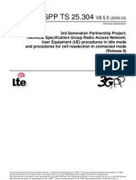 UE Procedures in Idle Mode and Procedures for Cell