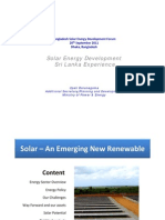 Upali Daranagama - Solar Energy Devt in Sri Lanka
