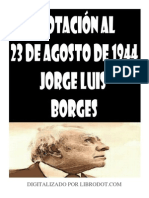 Borges, Jorge Luis - Anotación al 23 de agosto de 1944