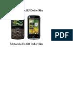 Motorola Ex115 Doble Sim