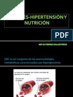DIABETES-HIPERTENSIÓN Y NUTRICIÓN