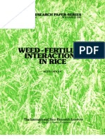 IRPS 68 Weed-Fertilizer Interactions in Rice