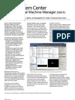 System Center Virtual Machine Manager 2008 R2 Data Sheet