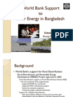 Zubair K M Sadeque - World Bank Support to Solar Energy in Bangladesh