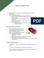 Chapter VII - Immune System