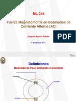 Fuerza Magnetomotriz en Bobinados de Corriente Alterna (AC)