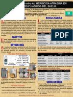 Cartel. Sensibilidad In vitro al herbicida Atrazina en aislados fúngicos de suelo.