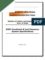 Specification Enrolment Smart Card Specification
