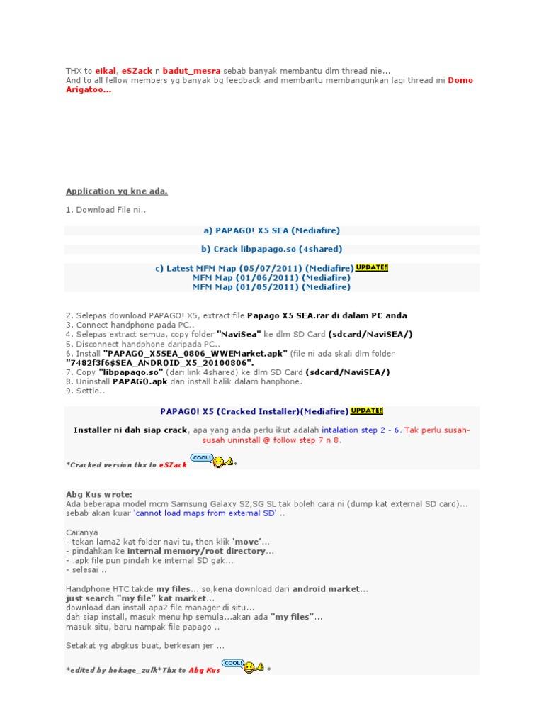 Papago x5 map download