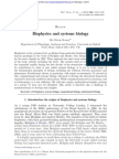 Biophysics and Systems Biology