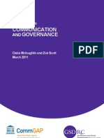 TOPIC GUIDE on Communication and Governance