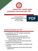 Analisi Prestazionali Protocol Lo TCP - Modello Semplice