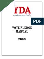 Young Democrats of America Vote Pledge Manual