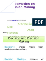 Decision and Decision Making