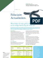 maandelijkse nieuwsbrief van Deloitte Fiduciaire (september 2011)