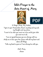 A Child's Prayer to the Immaculate Heart of Mary