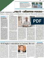Sul caso ERSU è allarme rosso - Il Resto del Carlino del 28 settembre 2011