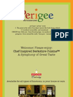 Perigee Fall Dinner Menu 2011