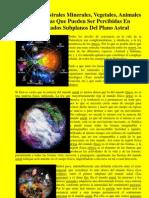 Las Formas Astrales Minerales, Vegetales, Animales y Humanas Que Pueden Ser Percibidas En Determinados Subplanos Del Plano Astral (Vicente+Beltrán+Anglada)