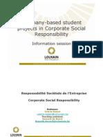 CSR Corporate Project Information2011-2012