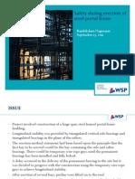 Presentation on Safety Issue - Steel Portal Frame Erection