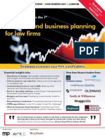 Financial and business planning for law firms 2011