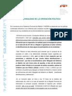 Intencionalidad de La Operaci%c3%93n Politica