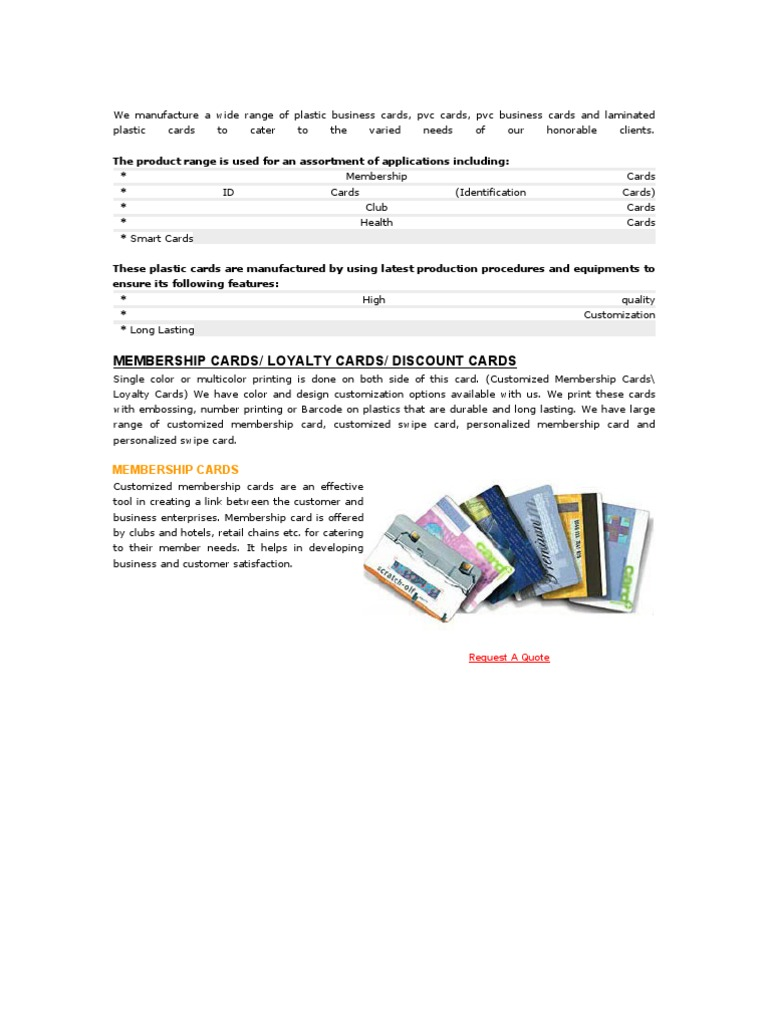 Plastic Card | Smart Card | Barcode