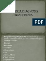 Kriteria Diagnosis Skizofrenia