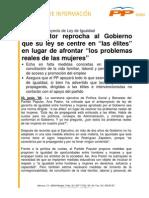 PASTOR - Anteproyecto Ley de Igualdad (23.06