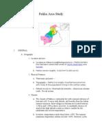 Paktia Area Study