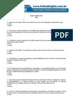 Folha Dirigida -  Regime Jurídico - INSS