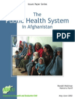 Afg - The Public Health System in Afg