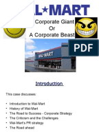 strategic management a case study of wal mart inc Wal-mart stores, inc history and case study section walmart's supply chain management wal-mart is often credited with starting the practice of digitally.