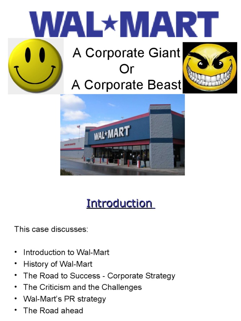 valuing wal mart 2 essay Wal-mart: the high cost of low price is a 2005 documentary film by director  robert greenwald and brave new films  1 synopsis 2 reaction  the film  features archival footage of wal-mart ceo lee scott praising the corporation at a  large employee  list of walmart brands sam's choice white stag great  value.