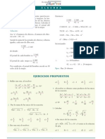 Algebra Pre Ecuacion Cuadratica Propuestos