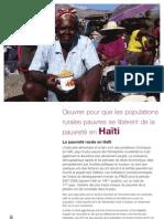 Oeuvrer Pour Que Les Populations Rurales Se Liberent de La Pauvrete en Haiti