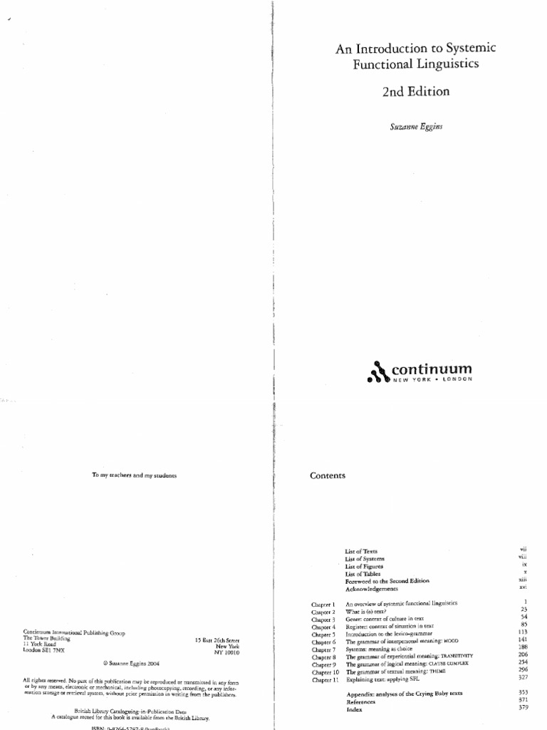 Introduction to systemic function linguistics semantics linguistics fandeluxe Images