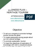 Business Plan – Heritage Tourism