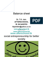Balance Sheet and Funds Flow
